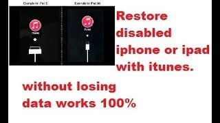 how to fix disabled iPhone/ipad without losing data easy 100% fix no iTunes 2018 latest solution
