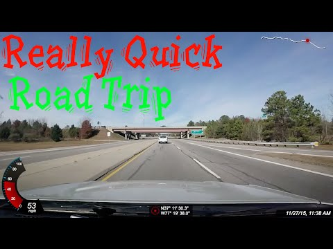 Really Quick Road Trip: Portsmouth VA to Roanoke VA (time lapse)