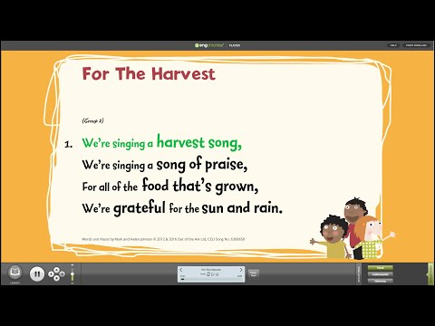 For The Harvest [Sing Harvest] - Words on Screen™ v2 Sample