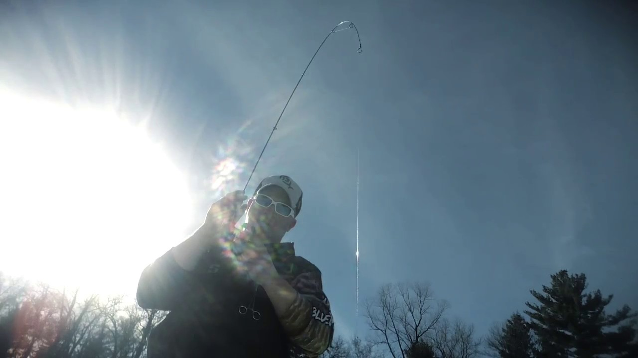Catching pike on light tackle through the ice youtube for 13 fishing freefall