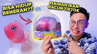 RACUN TIKTOK! IKAN INI BISA HIDUP BENERAN! | LITTLE LIVE PETS LIL' DIPPERS FISH UNBOXING & REVIEW