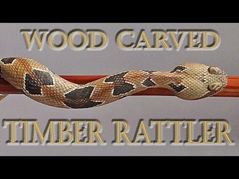 Canebrake  Timber Rattlesnake Redwood Walking Stick #51