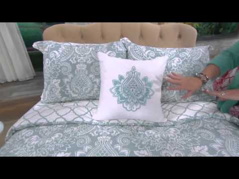 4-piece Pineapple Medallion Bedding Set By Valerie On QVC