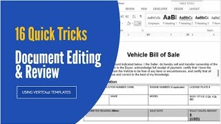 #16 Quick Document Editing & Review Tricks in Word