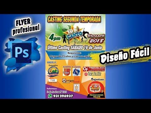 Tutorial Photoshop CS6 Flyer Publicitario Profesional 2018 Para Eventos