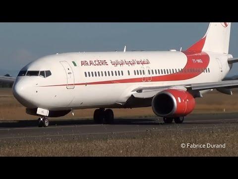 Air Algérie 737-800 take off 18R at Lyon St Exupéry [LYS/LFLL]