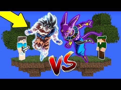 ILHA DO GOKU INSTINTO SUPERIOR VS ILHA DO BILLS no MINECRAFT !! (DRAGON BALL SUPER)