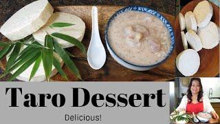 Gigi's Lao Kitchen: Lao Food:  Taro Root & Tapioca Pearl Dessert / น้ำหวานเผือกใส่สาคู