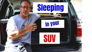 Convert SUV to camper or RV (how to sleep in an SUV)