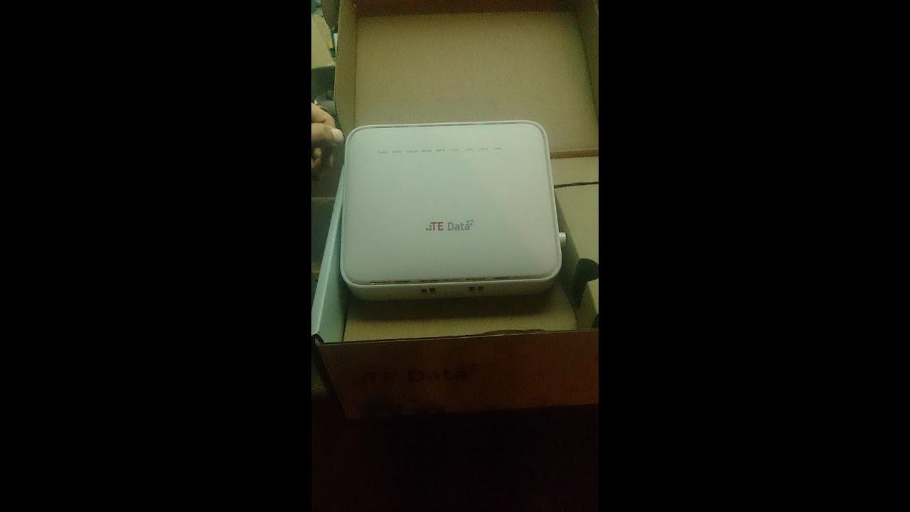 شرح ضبط اعدادت روتر تى داتا HG531 V1 TEDATA 300MBPS WIRLESS ADSL+2 ROUTER