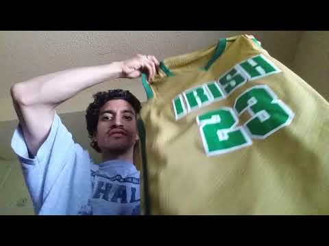 Unboxing Box Of Mighty Ducks, High School And College Basketball Jerseys