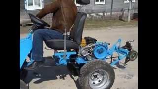 Испытания мини-трактора на базе мотоблока НЕВА