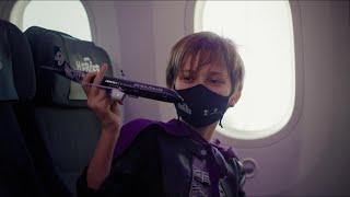 Air New Zealand Koru Care flight 2021 - 50 Little Heroes and a giant kiwi