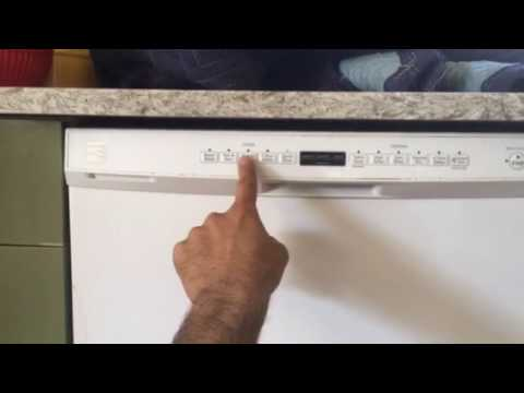 kenmore dishwasher diagnostic and reset youtube rh youtube com Kenmore Model 665 Dishwasher Manual Kenmore Dishwasher Parts Manual