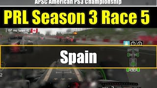 F1 2013  | Online League Race | PRL APSC Season3 Race 5 spain