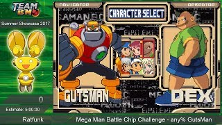 Mega Man Battle Chip Challenge any% Speedrun by Ratfunk ~ TeamBN's Summer Showcase 2017