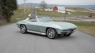 1966 corvette Convertible Mosport Green Forsale allcorvettes.net