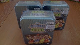 UK PREMIERE ☆ unboxing COLLECTOR TIN ☆ topps CRICKET ATTAX 2014/15 IPL ☆ opening
