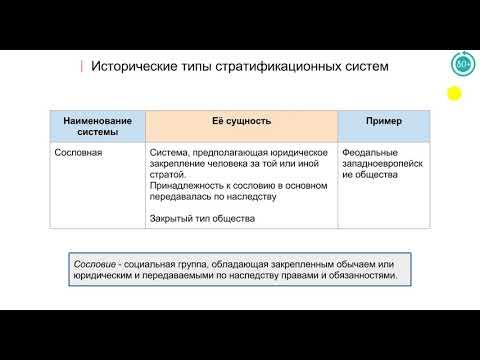 3.1 Социальная стратификация и мобильность