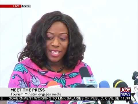 Tourism Minister Engages Media on JoyNews (29-1-18)
