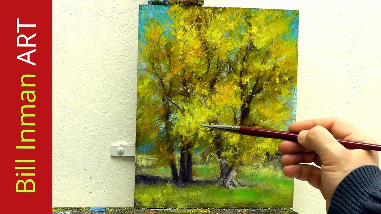 Learn to paint cottonwood trees oil painting 39 hammock for How to learn to paint