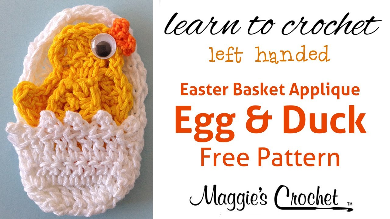 Easter Egg and Duck Applique Free Crochet Pattern - Left Handed ...
