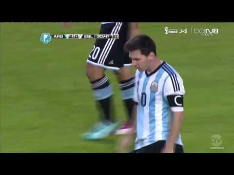 Leo Messi Goal | Argentina vs Slovenia 2-0 |Friendly Match 2014