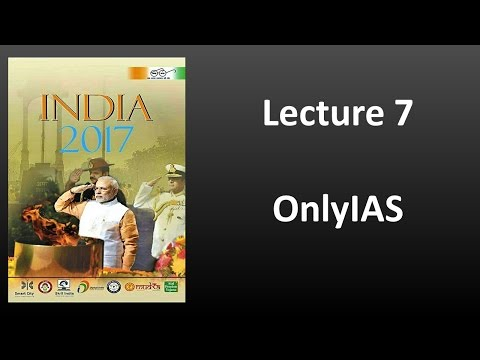 Lecture 7, India Year Book 2017