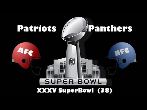 2004 Super Bowl XXXVIII Panthers Vs Patriots