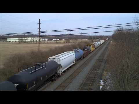 Wabash Heritage, CitiRail, UP, and SD40 2 units on the NS Harrisburg Line