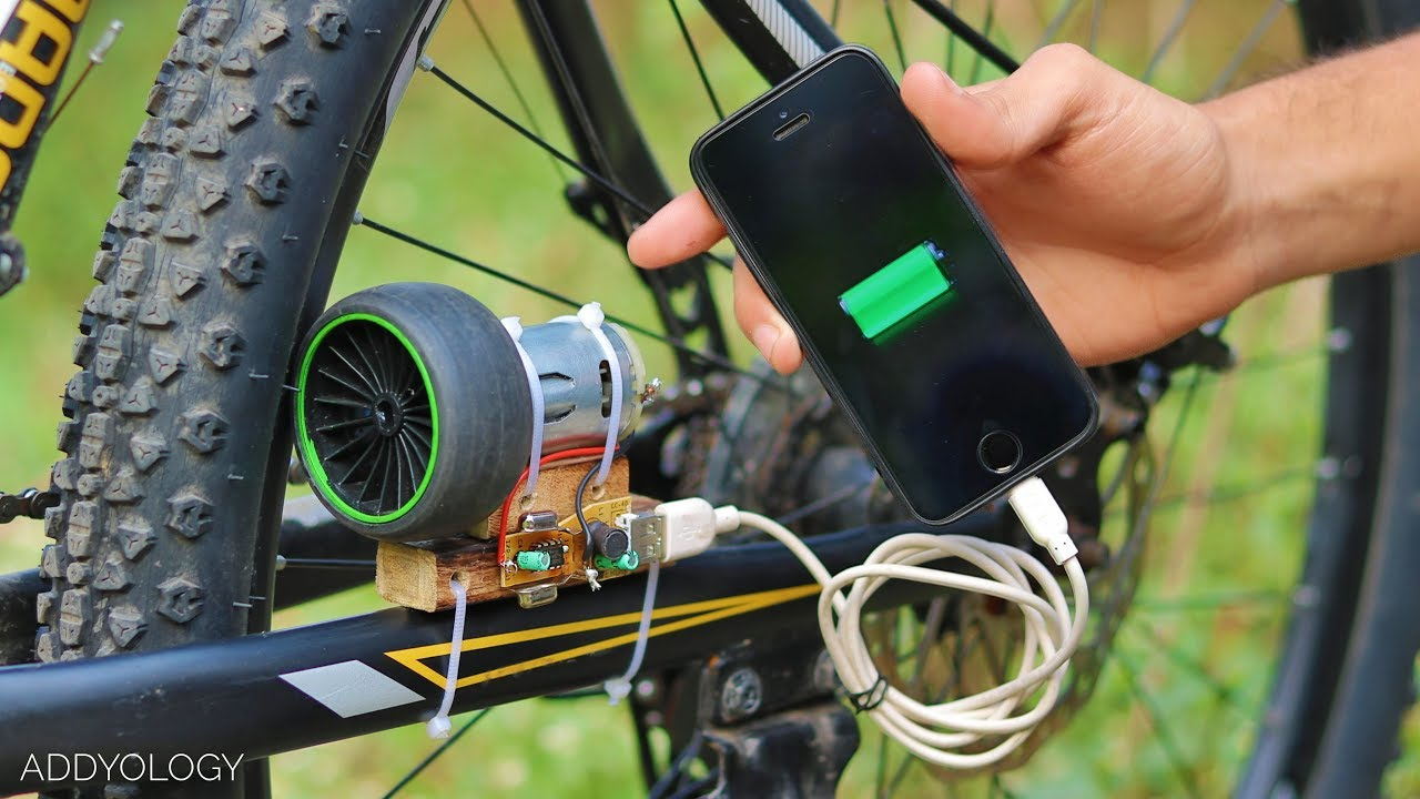 How To Charge Phone With Bicycle Free Energy