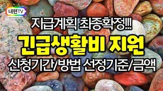 최종 지급계획 확정된 서울 긴급생활비 생계비 지원 기본…