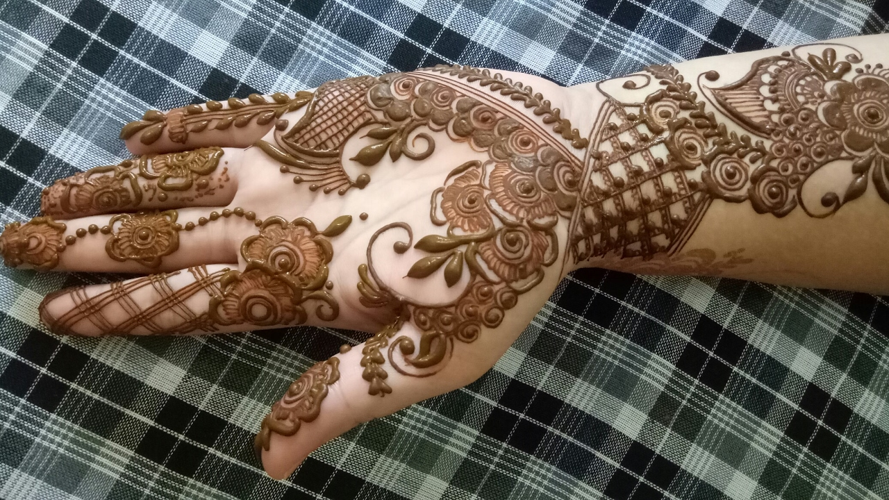 Khaleeji Henna Design  Henna Design For Hands  Youtube