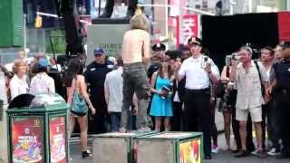Blue Bloods TV show taping at Times Square, New York 2014