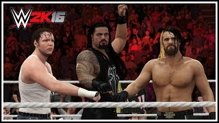 WWE 2K16 - THE SHIELD REUNITED! Entrance, Triple Powerbomb OMG Moment & Winning Animation!