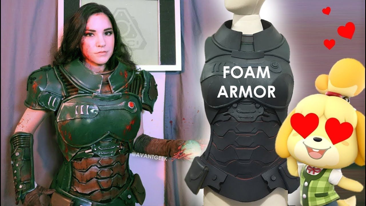 I Tried Making Doom Armor Out Of Foam Youtube