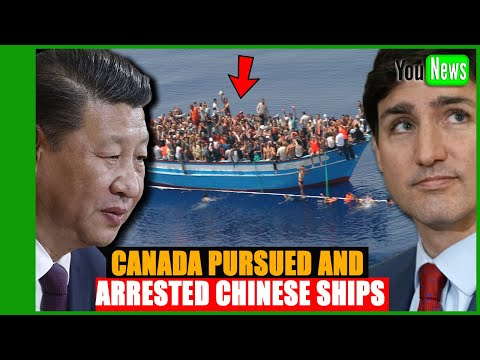 Canada pursued and arrested Chinese ships smuggling 100 immigrants illegally.