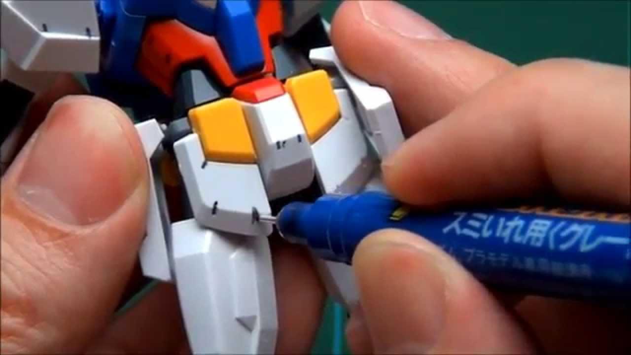 how to add panel line gundam