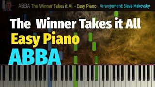 ABBA - The Winner Takes it All - Easy Piano Cover