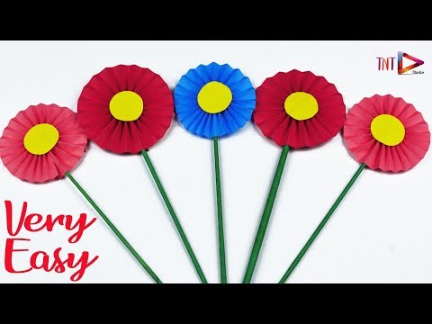 Very Easy To Make Sunflowers For Kids | Simple Origami Paper Crafts