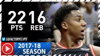 Hassan Whiteside Full Highlights vs Wizards (2017.11.17) - 22 Pts, 16 Reb