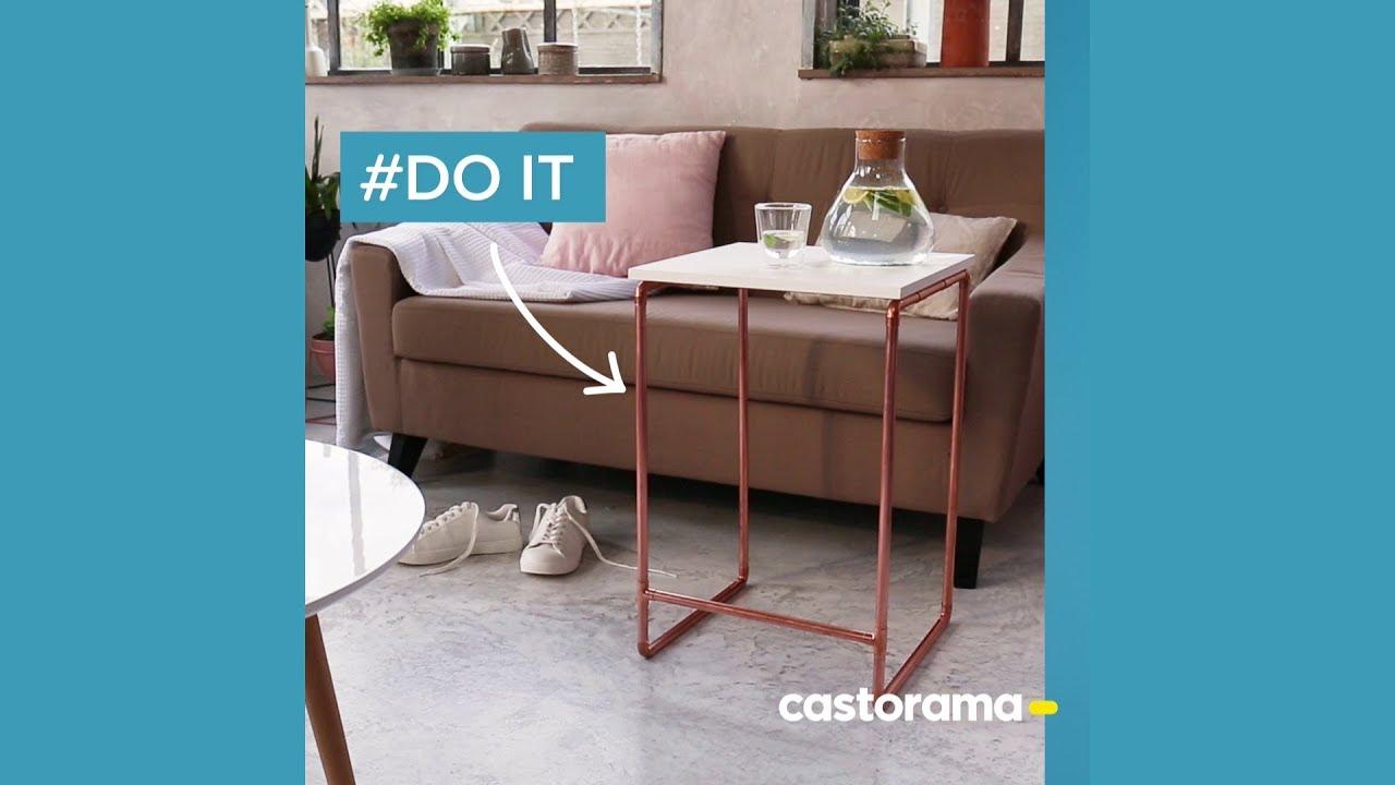 Diy Fabriquer Une Table D Appoint Avec Du Cuivre Castorama