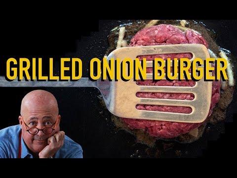 Andrew Zimmern Cooks: Griddled Onion Burger