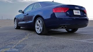This audi a5 video review includes information about the 2.0t coupe model, including fuel economy, performance, handling, price and interior space. for more ...