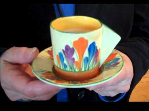 Antiques from Home - Clarice Cliff hand painted ceramics