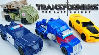 TRANSFORMERS THE LAST KNIGHT TURBO ONE STEP CHANGERS BARRICADE HOUND OPTIMUS BEE WAVE 1