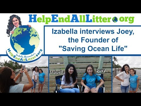 Izabella interviews Joey, the Founder of Saving Ocean Life