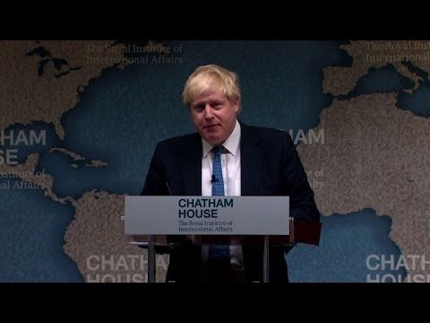 Britain's Johnson stands firm on immigration talk