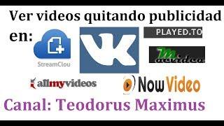 como ver videos en streamcloud, played to, allmyvideos, vk, nowvideos