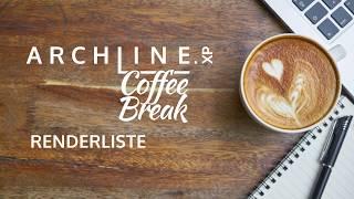 ARCHLine.XP - Die CAD + BIM Software Coffe Break Renderliste